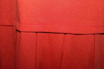 Rochie caramizie fusta plisata anii '60