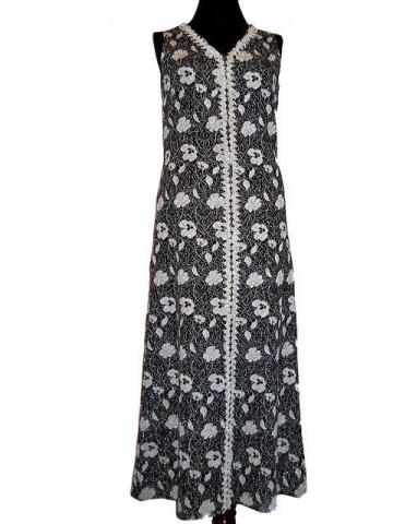 Rochie de seara vintage cu flori argintii anii 60