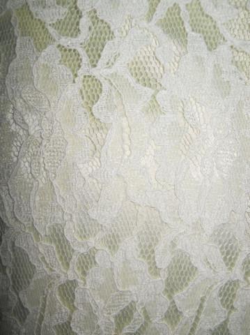 Rochie de seara vintage din dantela alba anii '70