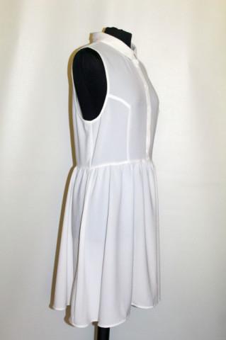Rochie din crepe alb repro anii 70