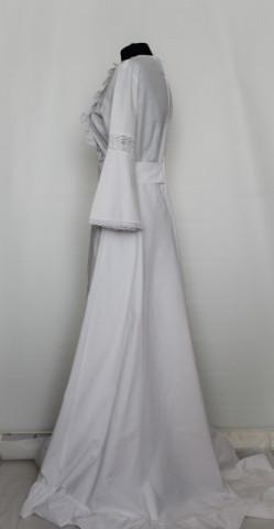 Rochie maxi alba dantela stil victorian anii '70