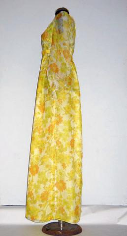 Rochie maxi din organza cu print floral anii '60