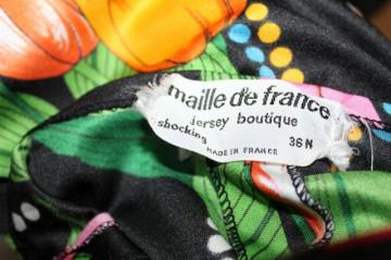 """Rochie maxi vintage """"Maille de France"""" anii '70"""