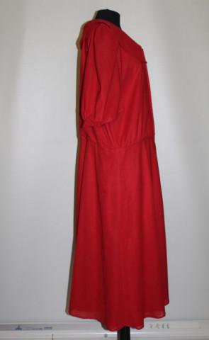 Rochie roșie guler bărcuță anii 70