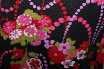 Rochie vintage cu flori multicolore anii '70