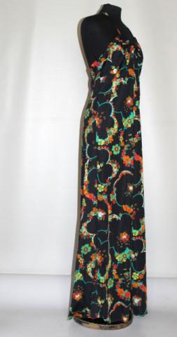 Rochie vintage cu spatele gol print floral anii 70