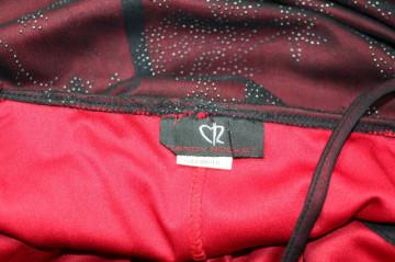 Rochie vintage de seara neagra cu interior roșu anii '90