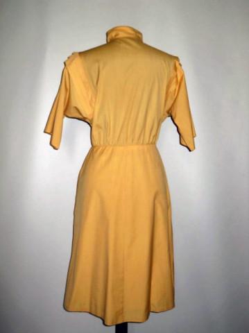 Rochie vintage galben vanilie anii '70 - '80