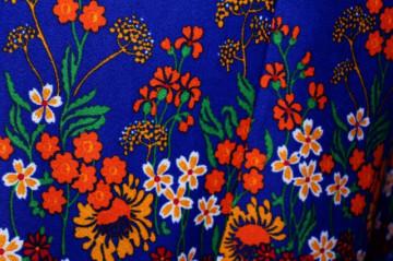 Rochie vintage maxi print floral multicolor anii '70