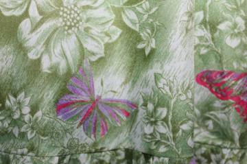 Rochie vintage print fluturi anii 70