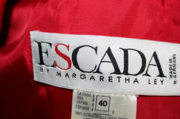 """Sacou rosu """"Escada"""" anii '90"""