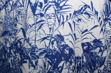 Salopeta print vegetal repro anii '70