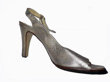 Sandale vintage argintii anii '70