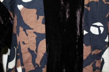 Tunica retro catifea si jacquard anii '80