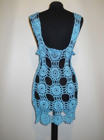 Vesta vintage turcoaz crosetata anii '70
