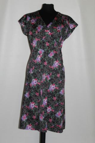 Rochie vintage print floral si print punctiform anii '70