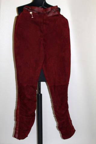Pantaloni din piele întoarsă Gianni Versace anii 80