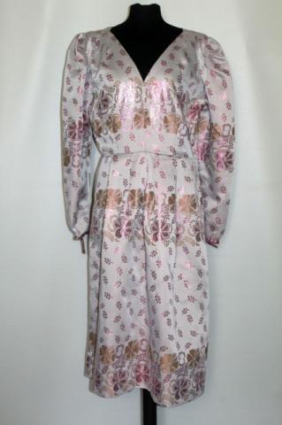 Rochie de ocazie din brocart roz anii 60