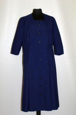 Rochie vintage din stofa bleumarin anii '50