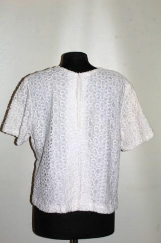 Bluză din dantelă albă anii 60