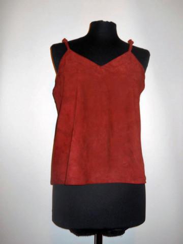 Bluza piele intoarsa visinie anii '70