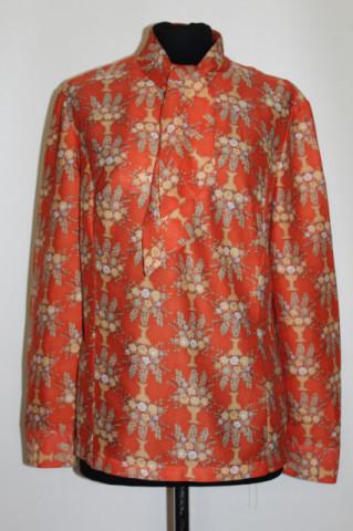 Bluza portocalie vase de flori anii '60