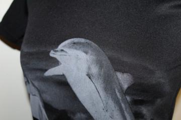 Bluza print delfini anii '90