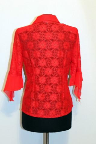 Bluza retro din dantela rosie anii '90