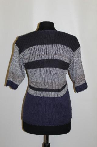 Bluza tricotata flori repro anii '70