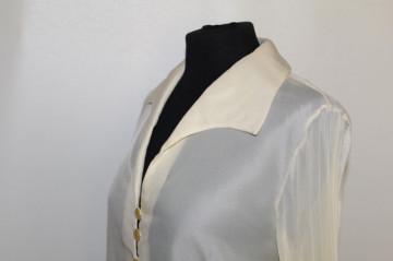 Camasa ivoire maneci plisate anii '70