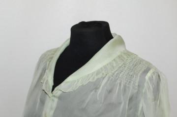 Camasa vintage din organdi verde fistic anii '30