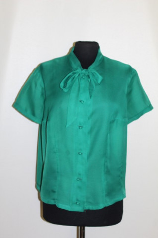 Cămașă vintage verde smarald anii '50