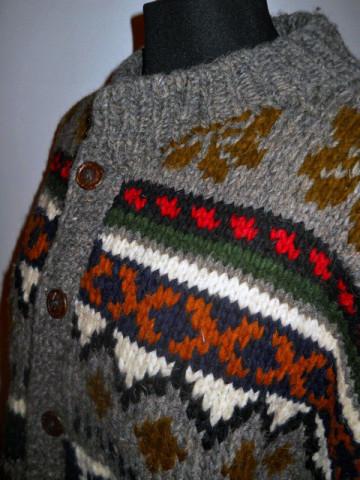 Cardigan retro stil etnic anii '80
