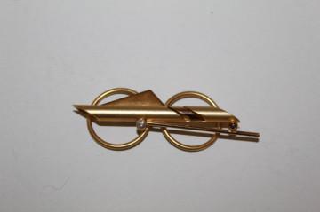 Clips de eșarfă auriu anii 80