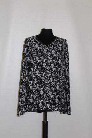 Compleu print floral alb cu negru repro anii 70
