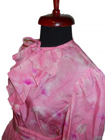 Deux pieces vintage roz cu print floral anii  '70