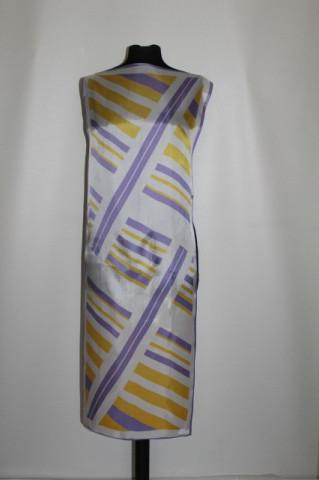 Esarfa - fular dungi violet si galbene anii '70