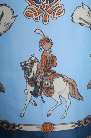 Esarfa print cavalerie anii '80
