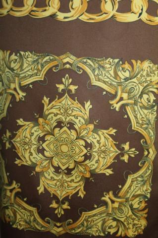 Esarfa retro print floral si lanturi anii '80