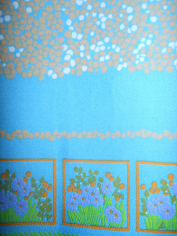 Esarfa vintage turcoaz picatele anii '60