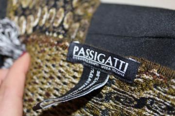 "Fular maro stil Missoni ""Passigatti"" anii '90"