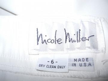 "Fusta alba ""Nicole Miller"""