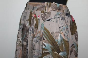 Fustă jungle print anii 80