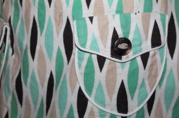 Fustă op print verde și maro repro anii 70