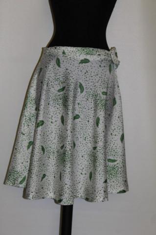 Fusta vintage print frunze verzi anii '60 - '70