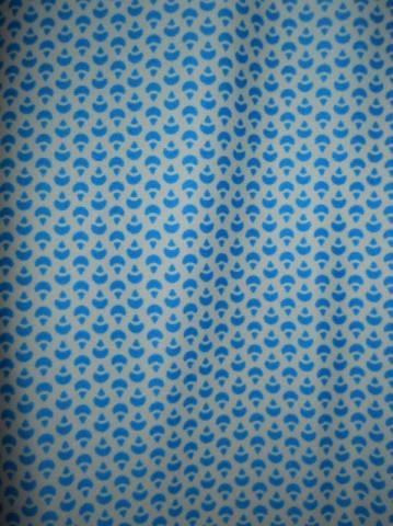 Fusta vintage print geometric turcoaz anii '70