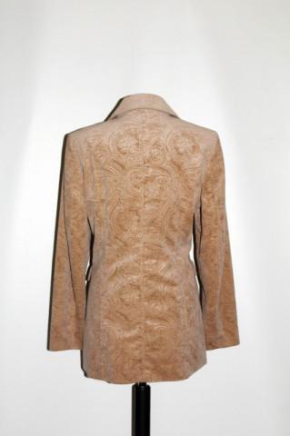 """Jacheta din catifea bej """"Betty Barclay"""" anii '80"""