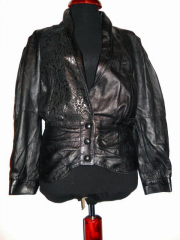 Jacheta retro din piele animal print anii '80