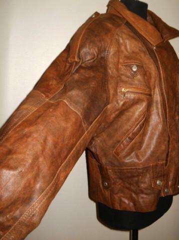 """Jacheta retro din piele """"Ollimac"""" anii '80"""