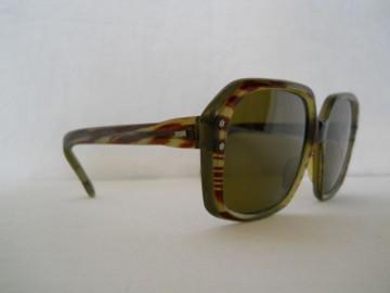 Ochelari de soare vintage verzi rama tigrata anii '70